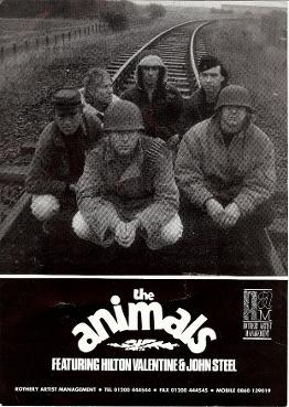Blues Rock The Animals Poster 1994 Featuring John Steel Hilton Valentine Robert Kane George Fearon Steve Hutchinson And Joss Elliott Hilton Valentine Official Website Animals Iii